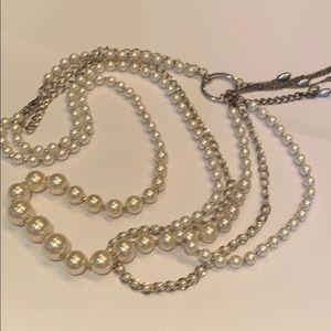 Jewelry - Multi strand multimedia pearl necklace